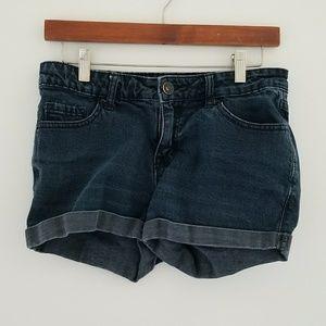 BDG Mid Rise Alexa 5 Pocket Faded Black Shorts 28W